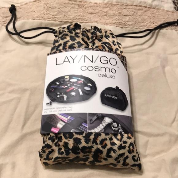 c6443da00ce Lay N Go Bags   New Washable Cosmetics Bag Leopard 35   Poshmark